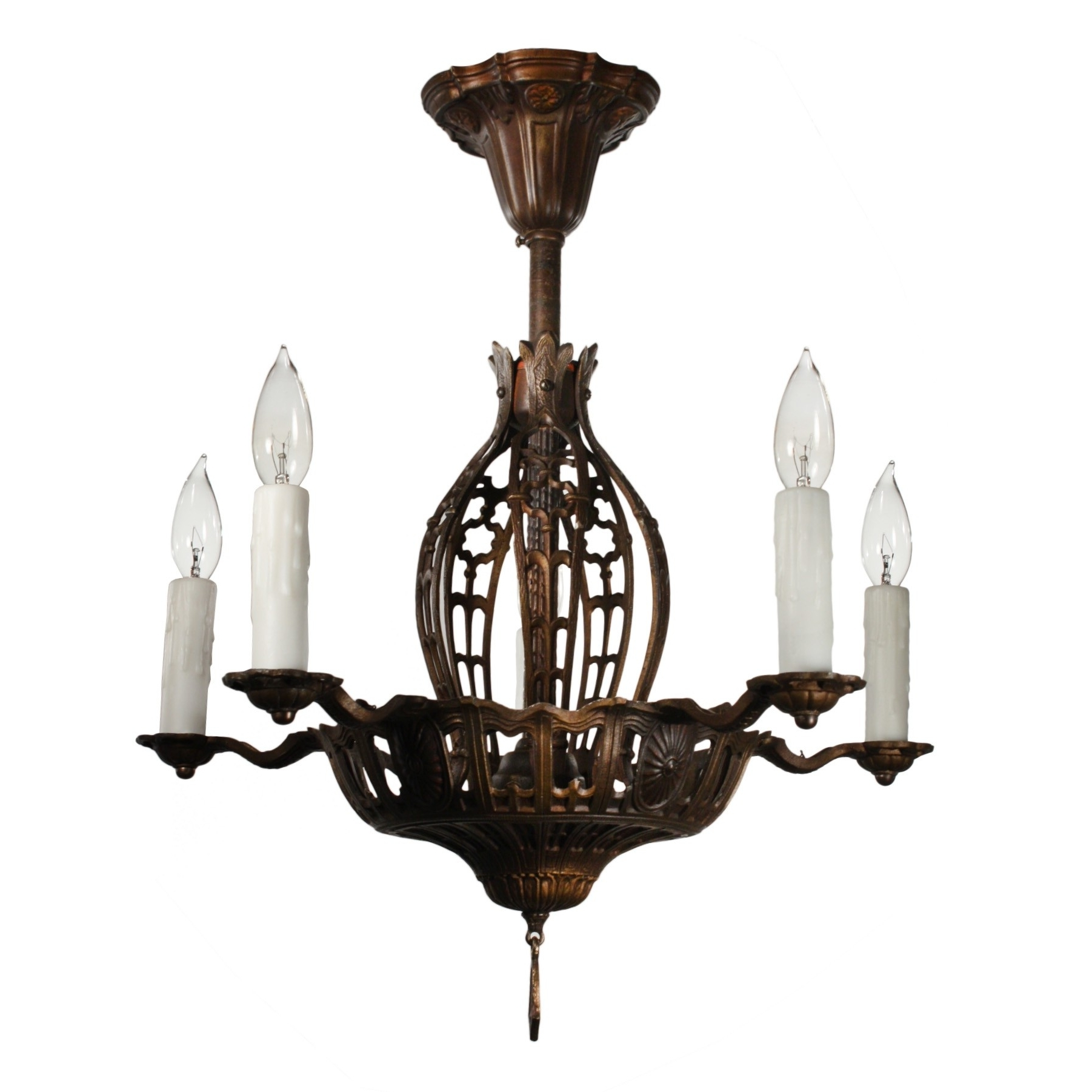 Favorite Antique Semi Flush Chandelier, Early 1900S – Preservation Station With Flush Chandelier (View 7 of 20)
