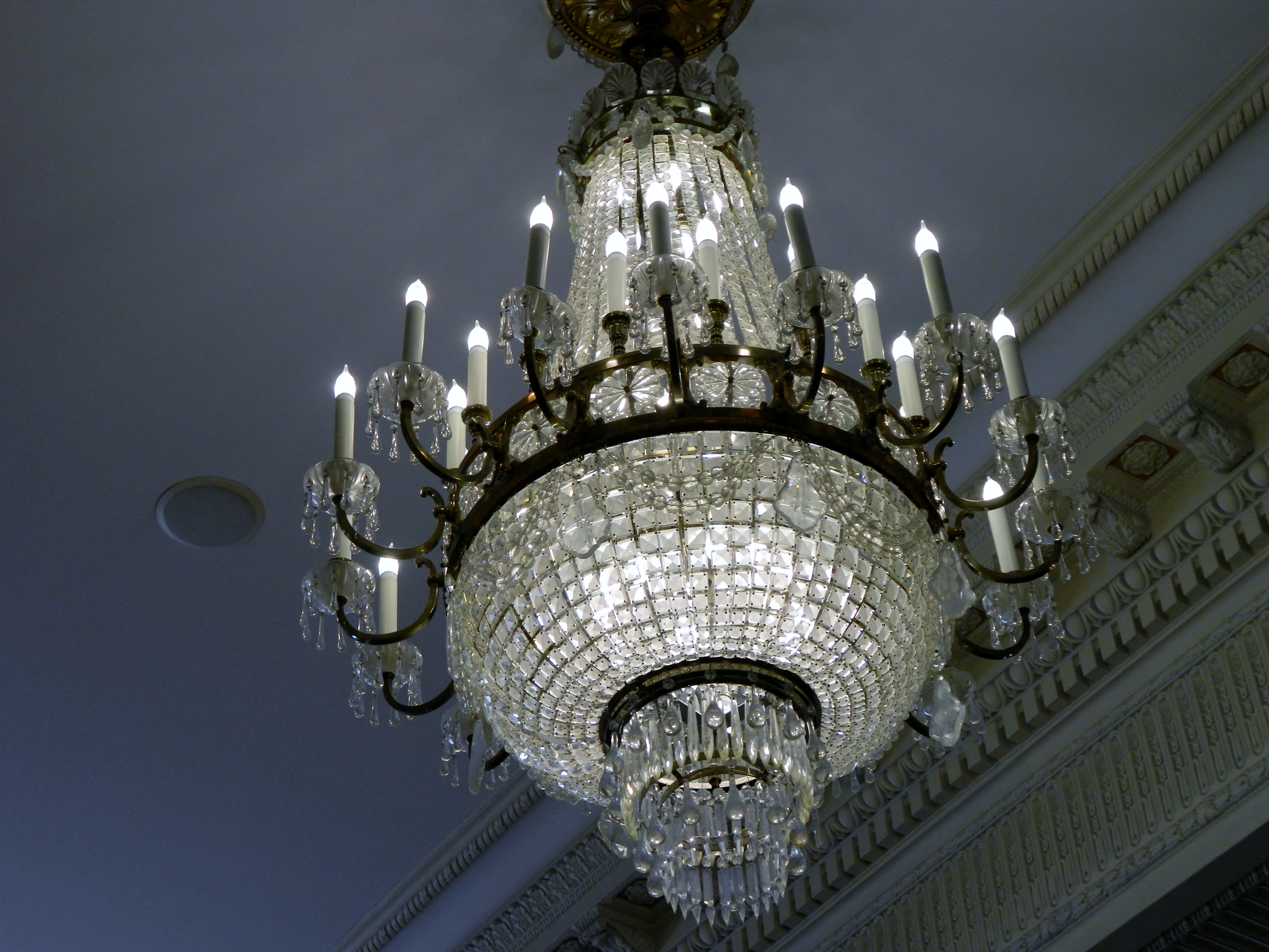 Favorite Ballroom Chandeliers With Regard To The Davenport Hotel – Traveling The Pnw (View 7 of 20)