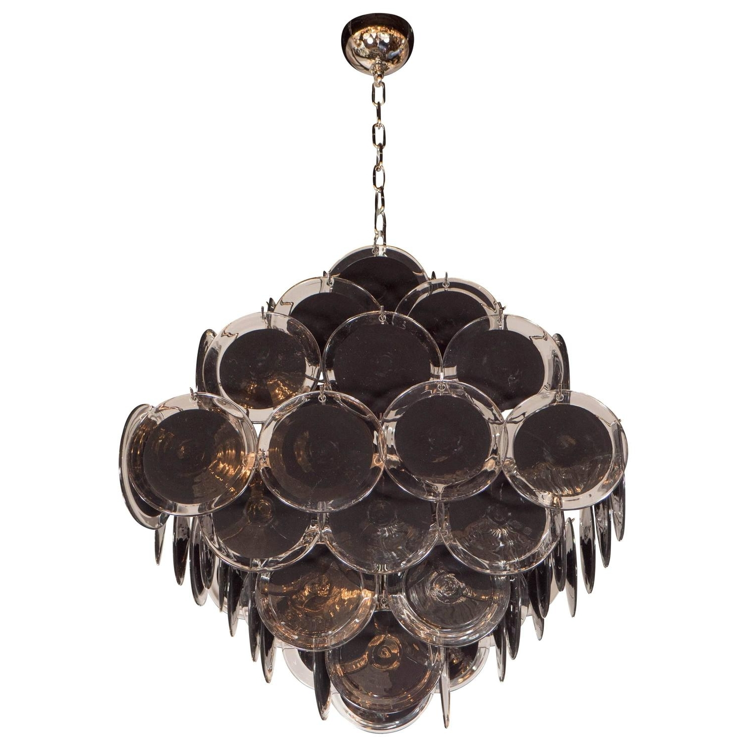 Favorite Black Glass Chandelier Within Ultra Chic Modernist Diamond Shaped Black Murano Glass Chandelier (View 3 of 20)