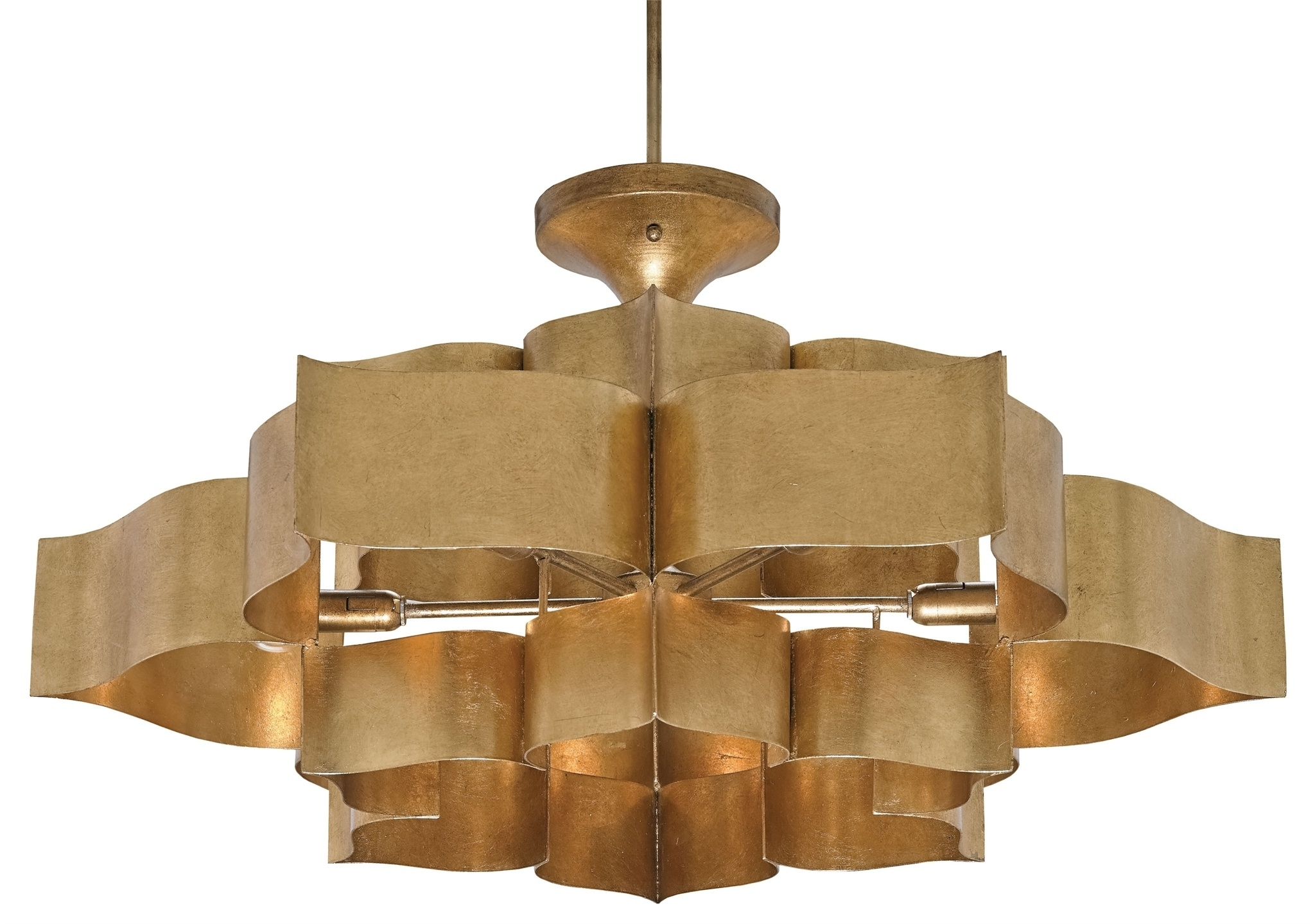 Favorite Blossom Gold Leaf Chandelier – Mecox Gardens For Gold Leaf Chandelier (View 4 of 20)