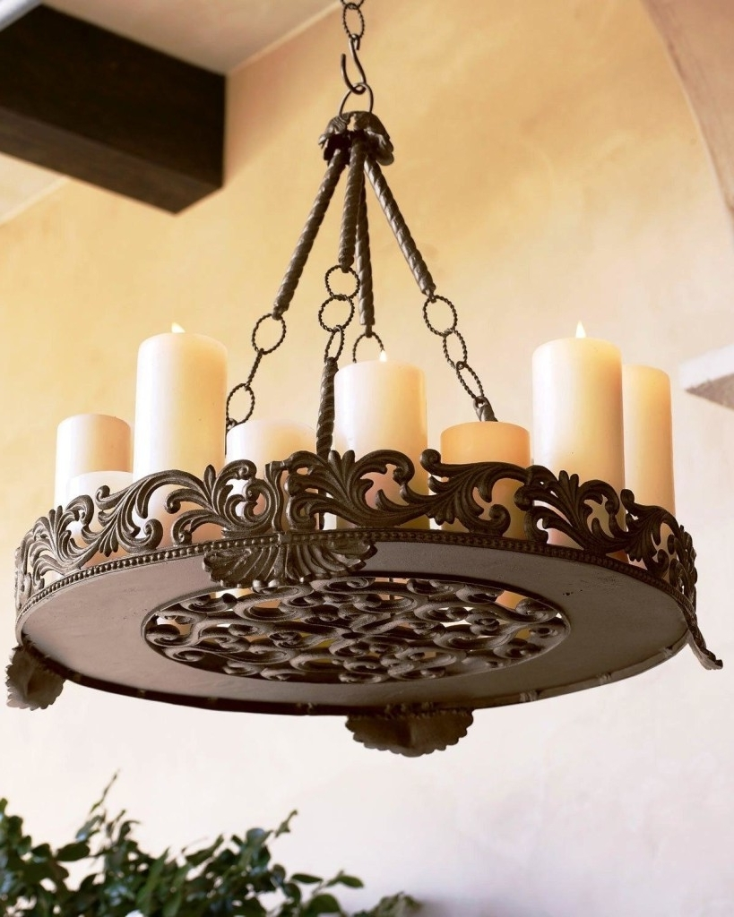 Favorite Candle Look Chandeliers For Chandeliers Design : Amazing Dining Room Bistro Table Classy Style (View 3 of 20)