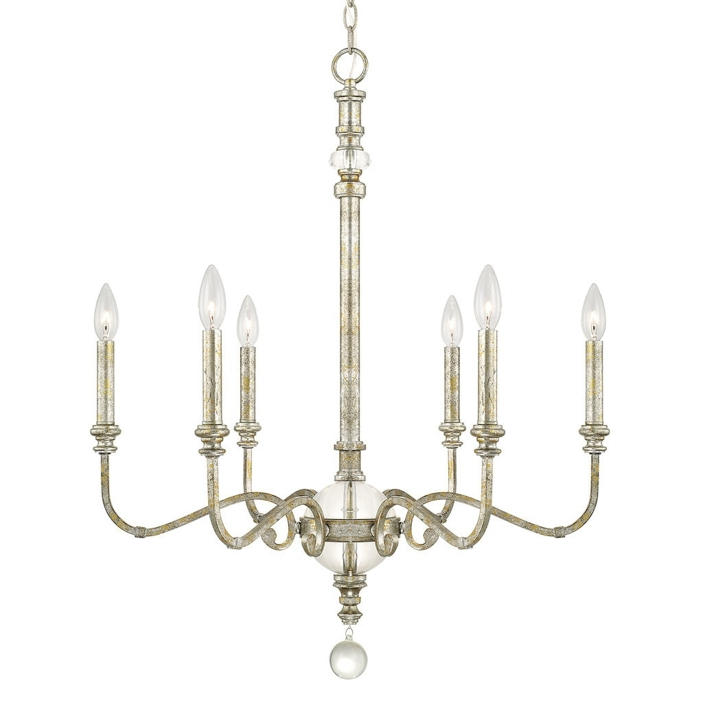 Favorite Capital Lighting Charleston Collection 6 Light Silver And Gold Leaf With Regard To Gold Leaf Chandelier (View 5 of 20)