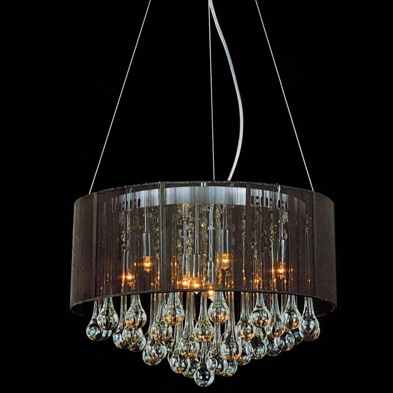 Favorite Chandelier With Shades And Crystals Intended For Brizzo Lighting Stores (View 15 of 20)