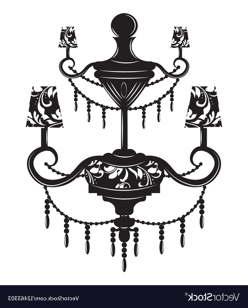 Favorite Classic Baroque Chandelier Royalty Free Vector Image Within Baroque Chandelier (View 14 of 20)