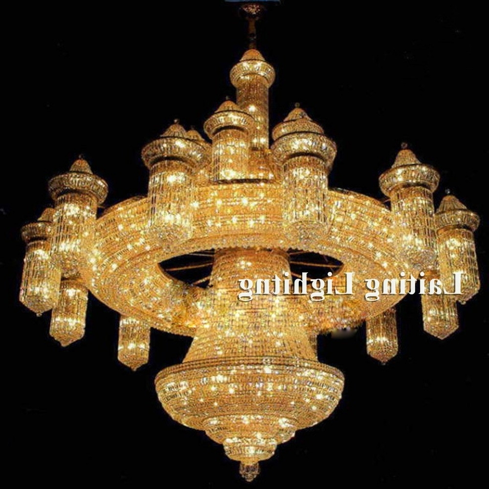 Favorite Crystal Custom Made Mosque Big Chandeliers – Buy Mosque Big With Regard To Big Chandeliers (View 9 of 20)