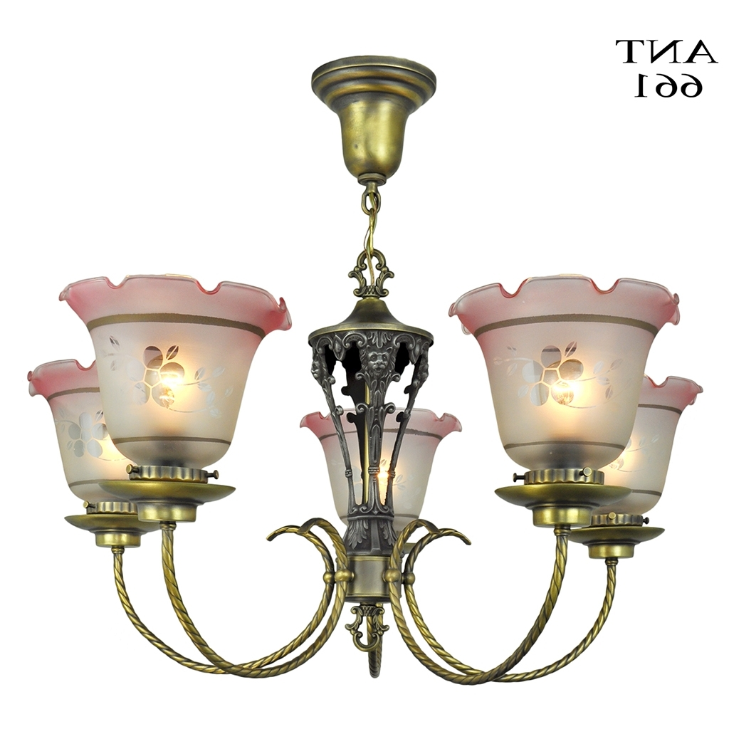 Favorite Edwardian Chandelier In Edwardian Chandelier 5 Arm Ceiling Light Fixture Circa 1920 Lighting (View 13 of 20)