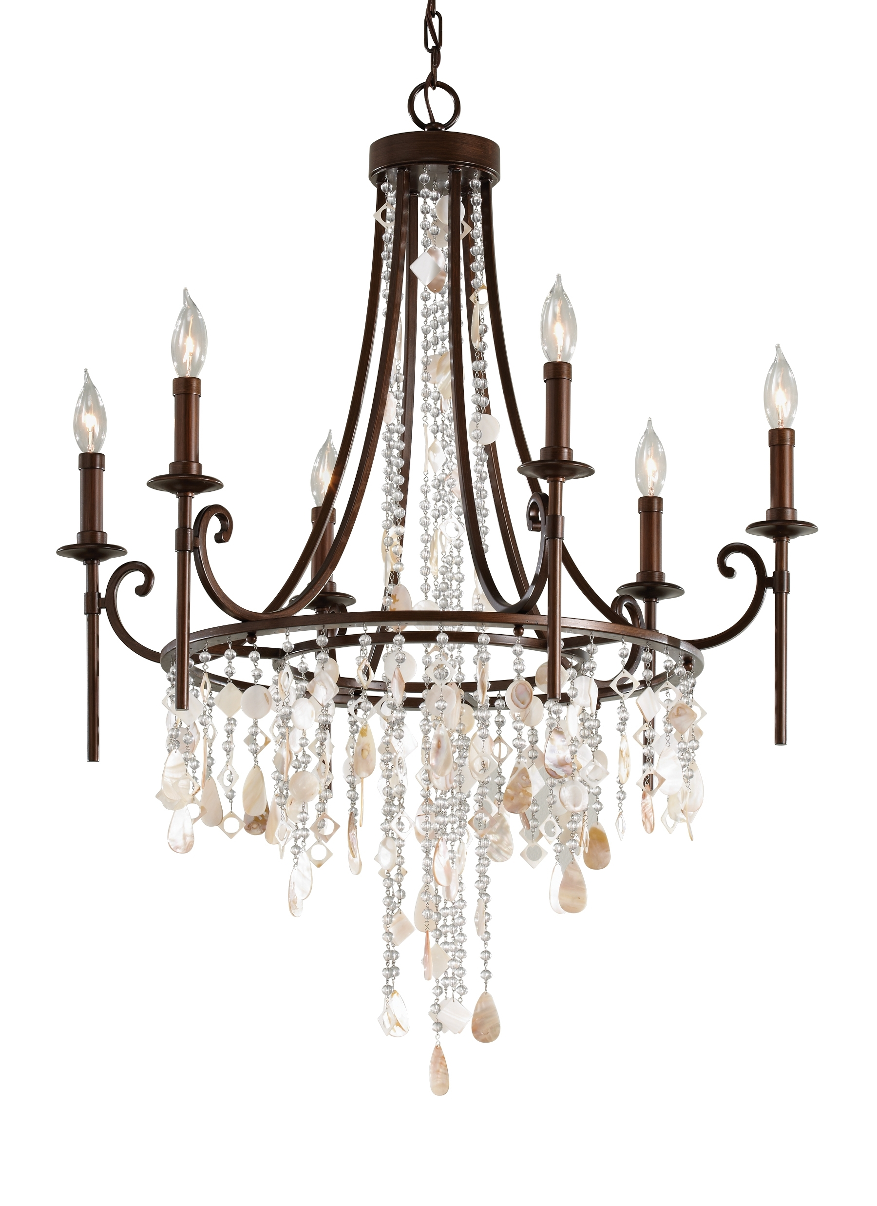 Favorite Feiss Chandeliers Pertaining To F2660/6Htbz,6 – Light Single Tier Chandelier,heritage Bronze (View 5 of 20)