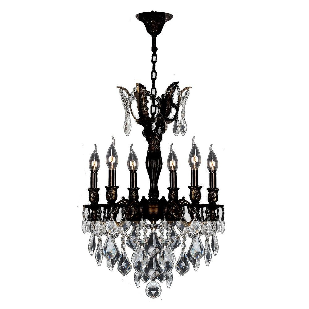 Favorite Flemish Brass Chandeliers In Worldwide Lighting Versailles 6 Light Flemish Brass Chandelier With (View 3 of 20)