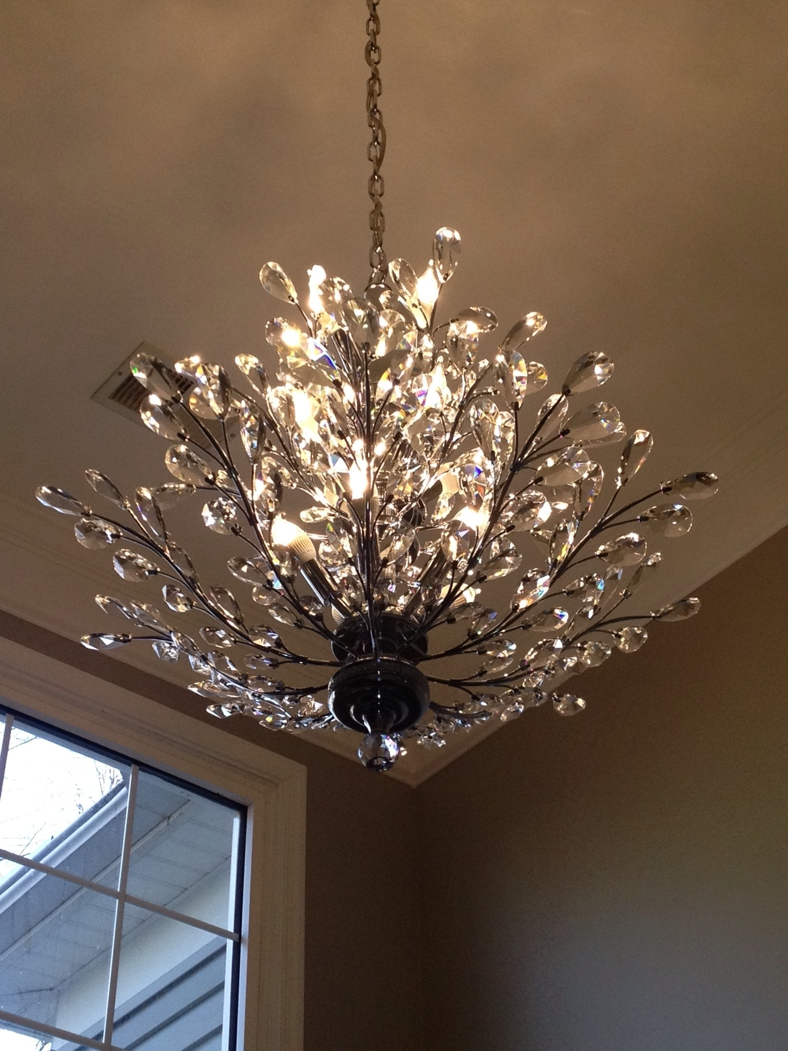 Favorite Foyer Chandelier: Branch Of Light Design, Joshua Marshall Home Pertaining To Branch Crystal Chandelier (View 11 of 20)