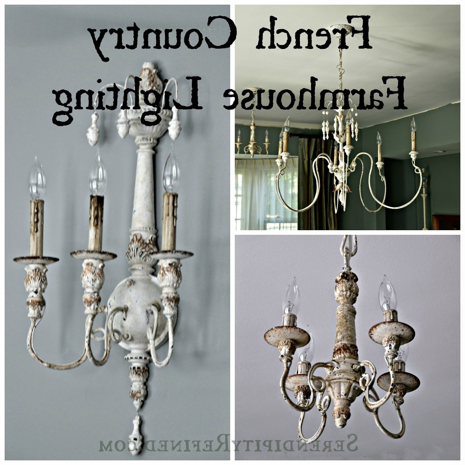 Favorite French Wooden Chandelier Inside French Country Farmhouse Style Chandeliers And Sconces With (View 13 of 20)