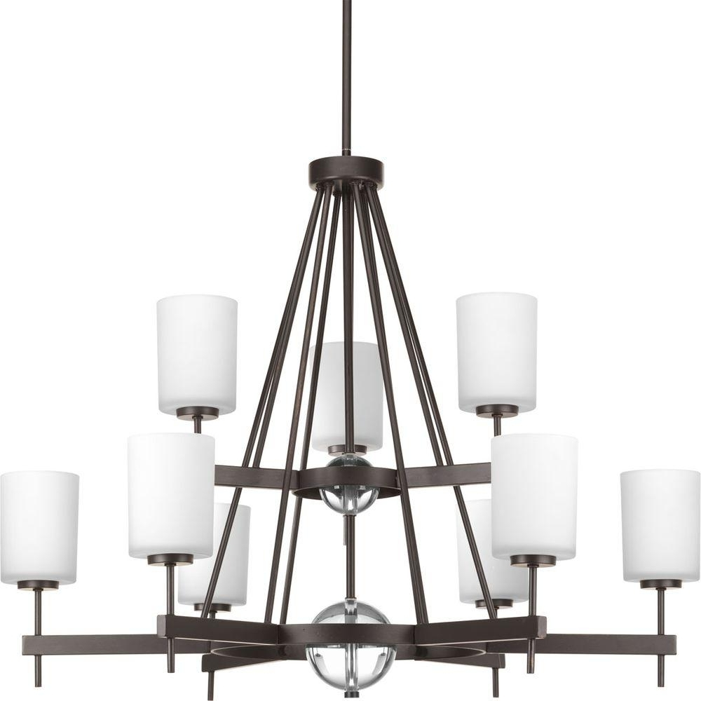 Favorite Large Bronze Chandelier Intended For Hampton Bay Freemont Collection 9 Light Hanging Antique Bronze (View 4 of 20)