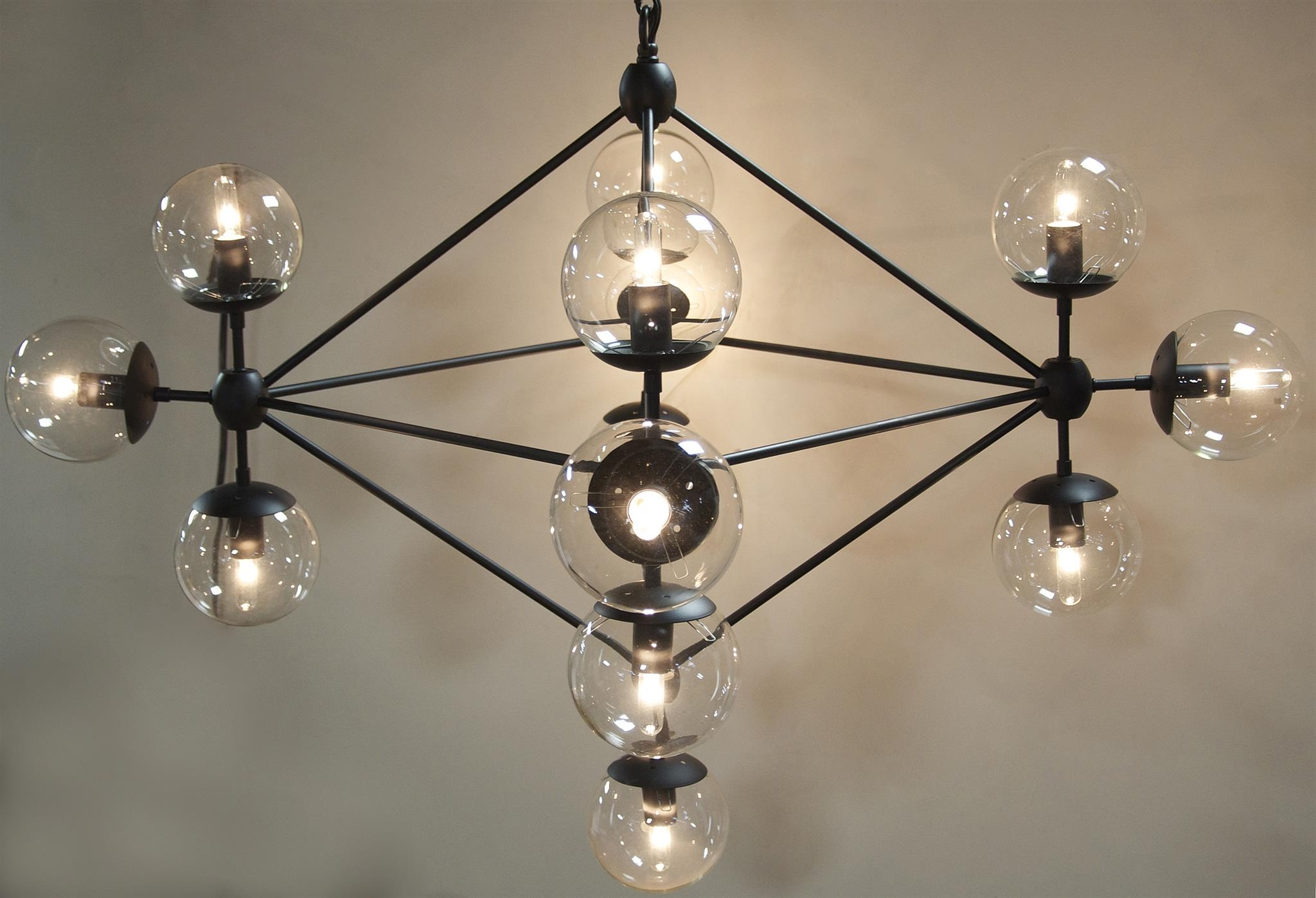 Favorite Large Glass Chandelier Within Small Mickey Metal And Glass Chandelier – Mecox Gardens (View 10 of 20)
