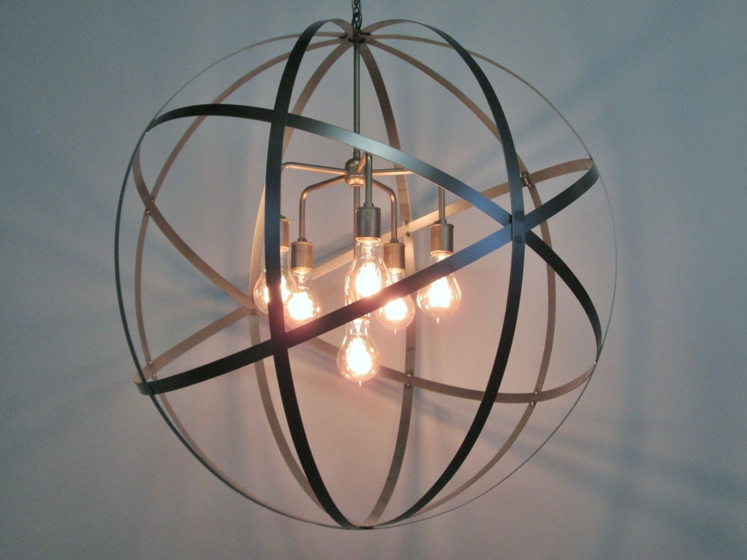 Favorite Orb Chandeliers Intended For Beautiful Orb Chandelier For Home Decor Lights Ideas: Industrial  (View 2 of 20)