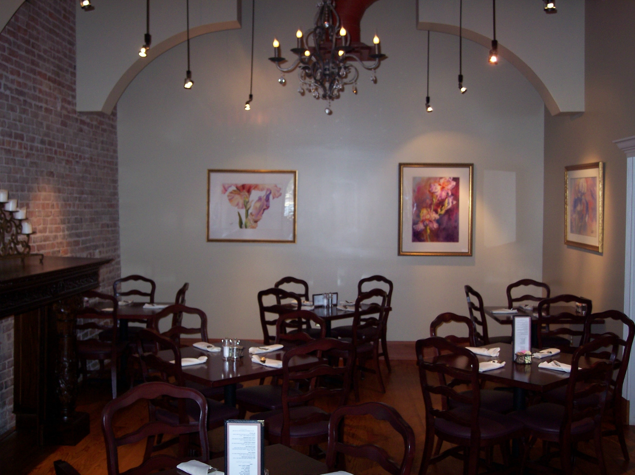The best restaurant chandelier favorite the chandelier room mikes place restaurant conway arkansas in restaurant chandelier arubaitofo Gallery