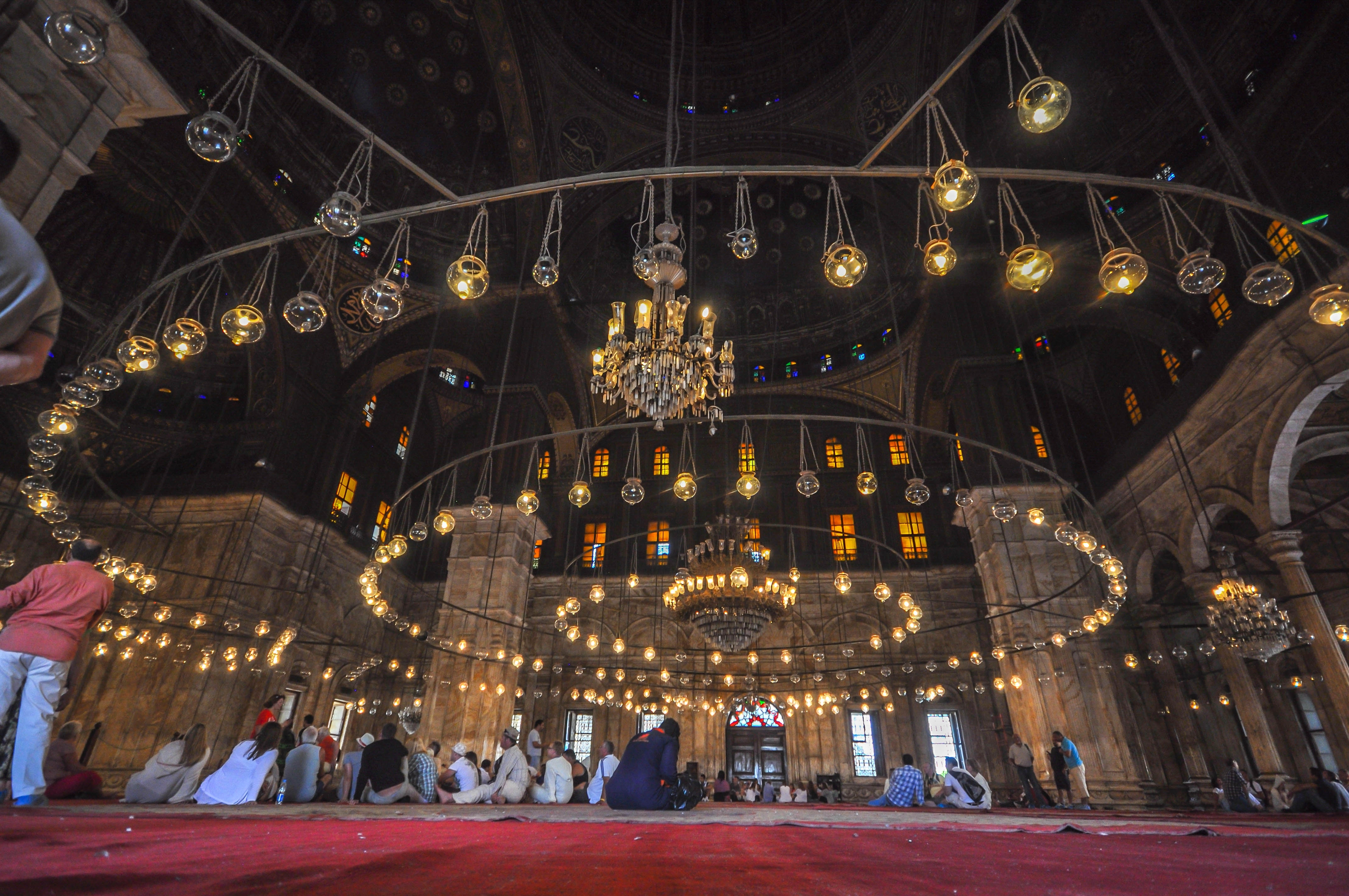 File:massive Chandelier – Mosque Of Muhammad Ali (14772980946) Intended For Best And Newest Massive Chandelier (View 8 of 20)