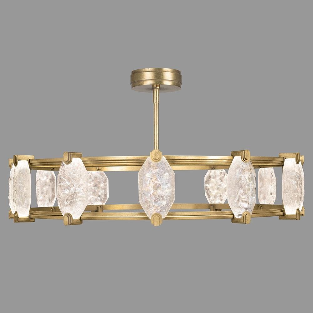 Fine Art Lamps 872940 2St Allison Paladino Modern Gold Leaf Led With Favorite Gold Modern Chandelier (View 4 of 20)
