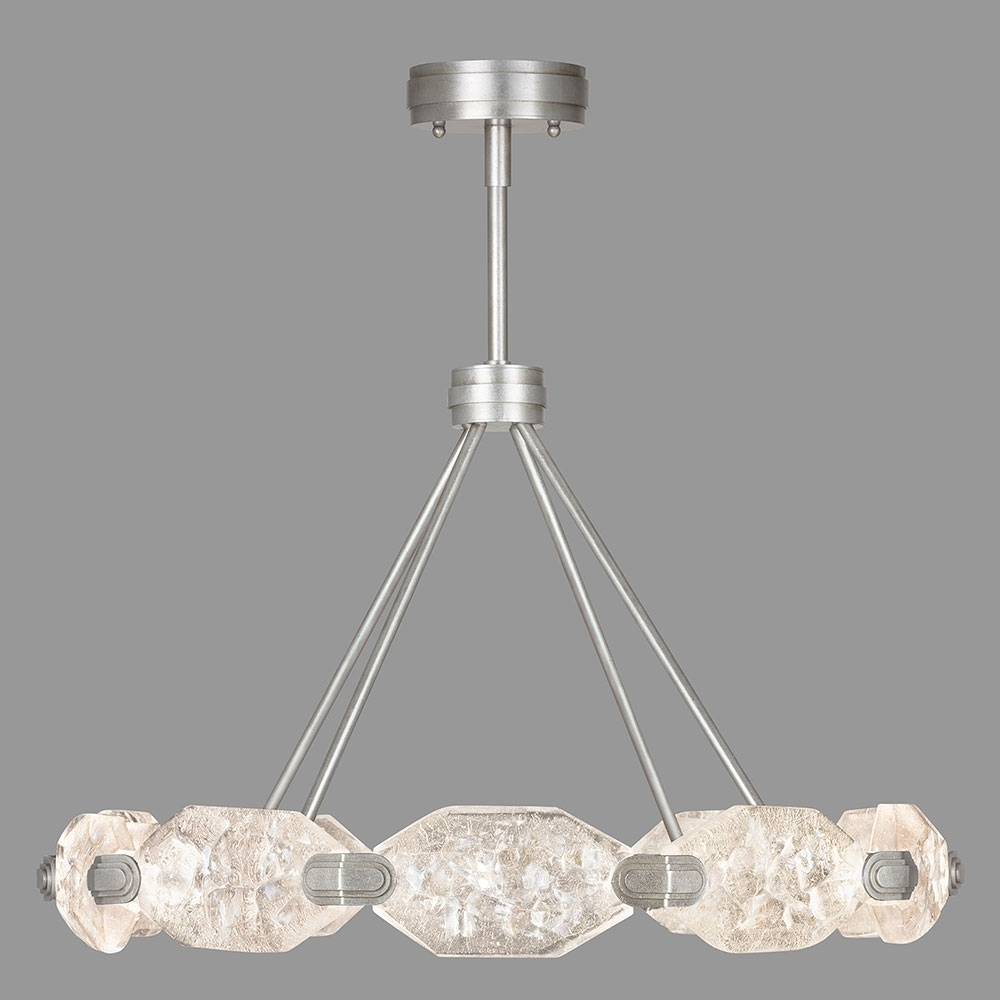 Fine Art Lamps 873040 1St Allison Paladino Modern Silver Leaf Led With Trendy Modern Silver Chandelier (View 14 of 20)