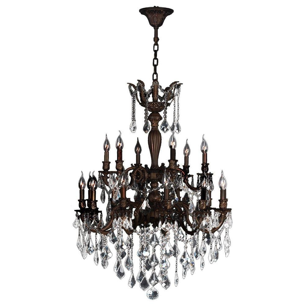 Flemish Brass Chandeliers For Most Recent Worldwide Lighting Versailles Collection 18 Light Flemish Brass (View 4 of 20)