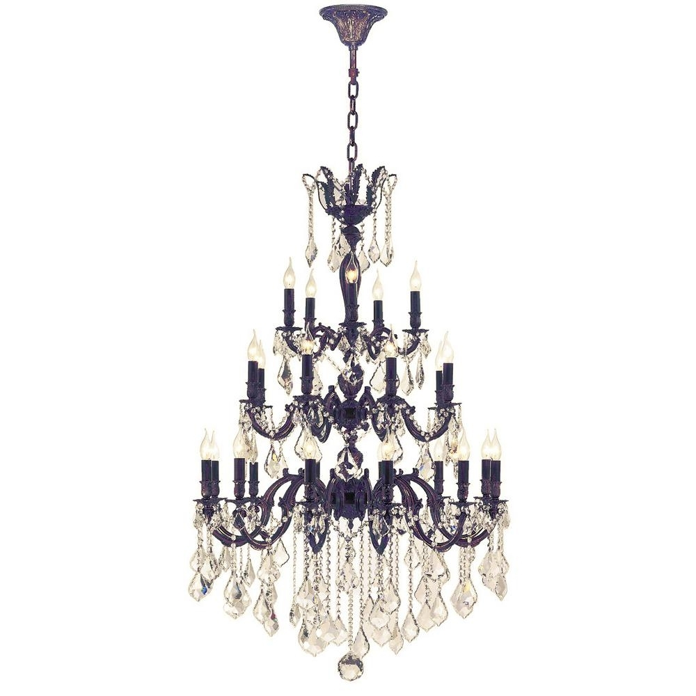 Flemish Brass Chandeliers Pertaining To 2018 Worldwide Lighting Versailles 25 Light Flemish Brass Chandelier With (View 5 of 20)