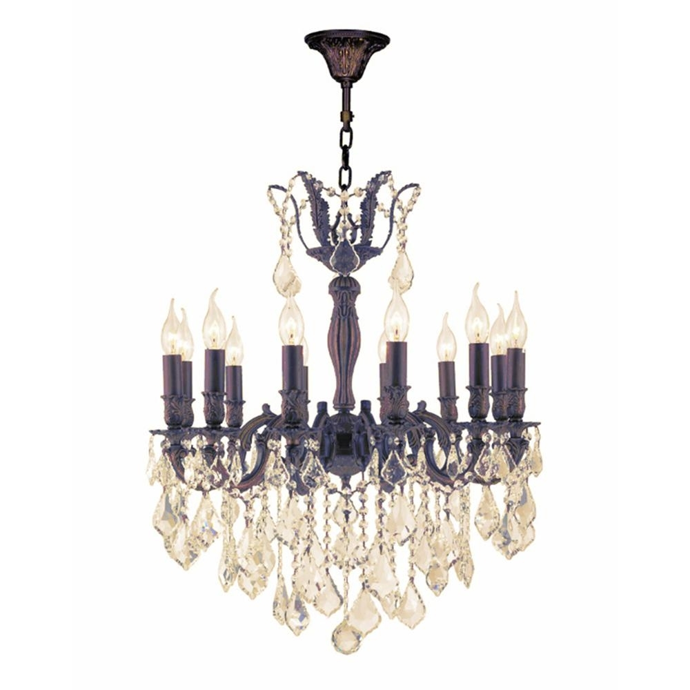 Flemish Brass Chandeliers Regarding Popular Worldwide Lighting Versailles 12 Light Flemish Brass Chandelier With (View 6 of 20)