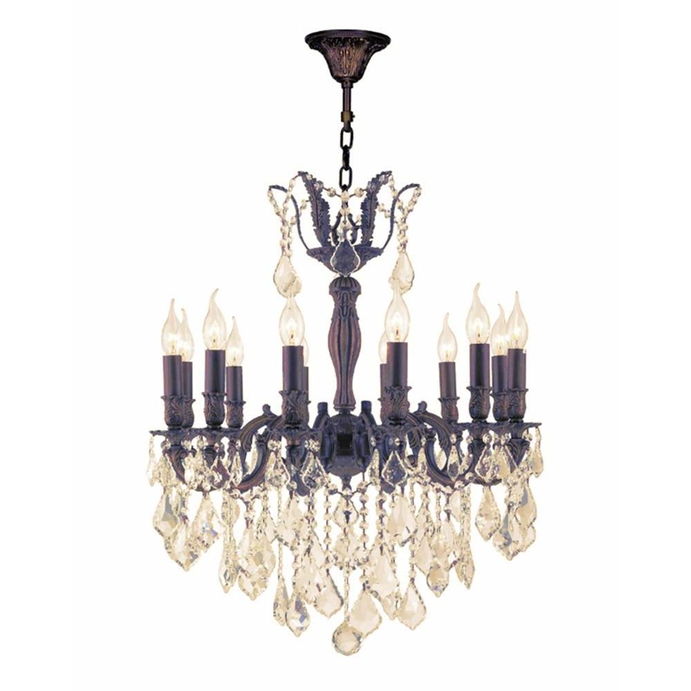 Flemish Brass Chandeliers Regarding Popular Worldwide Lighting Versailles 12 Light Flemish Brass Chandelier With (View 6 of 20)