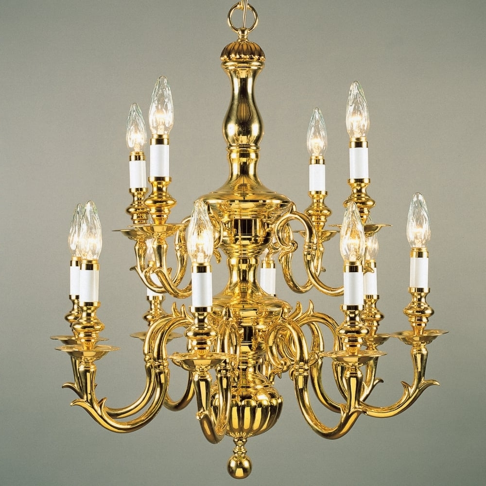 Flemish Brass Chandeliers Within Preferred Impex Lighting Bf19200/8 Flemish 8 Light Brass Chandelier – Lighting (View 9 of 20)