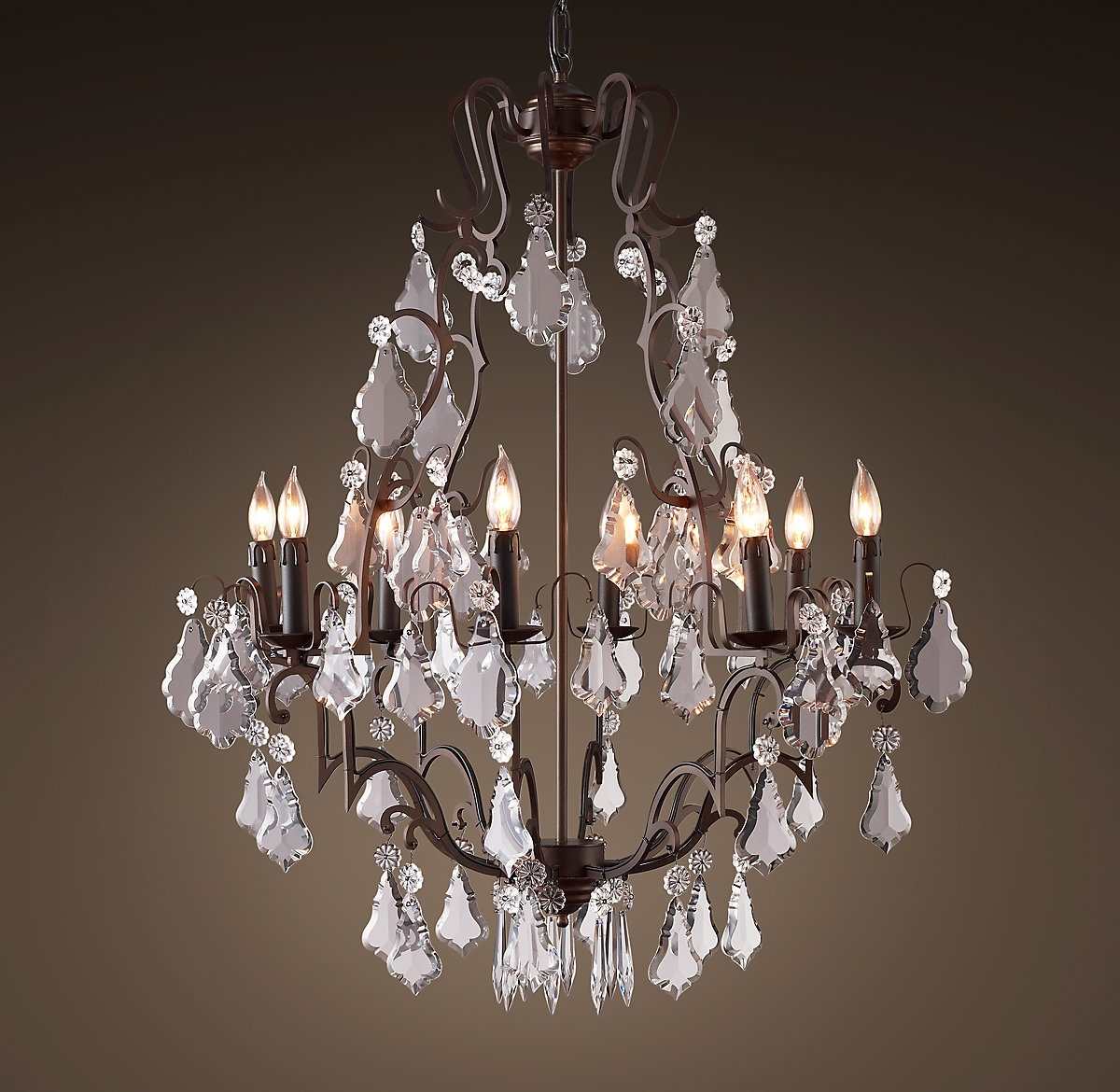 "Florian Crystal Chandelier 32""】美国 价格 图片 掌案 Inside Widely Used Florian Crystal Chandeliers (View 12 of 20)"