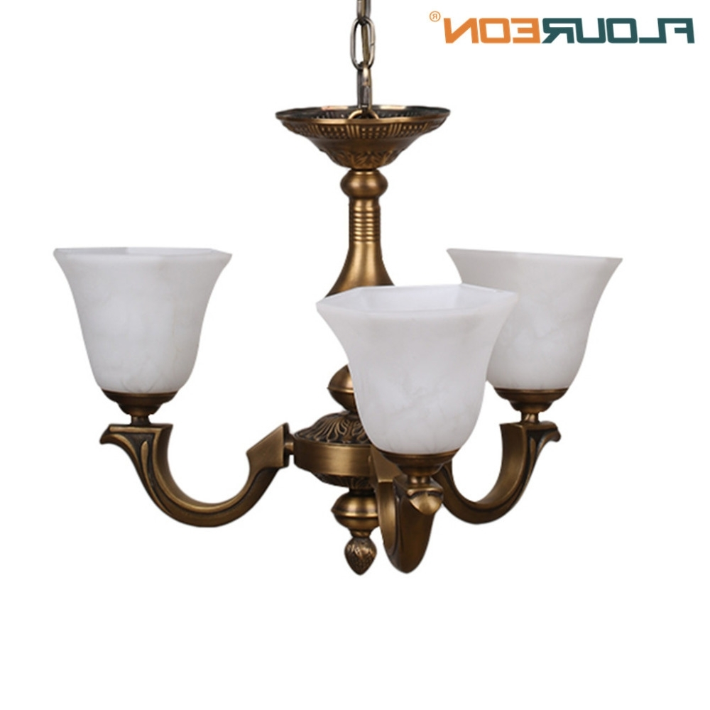 Floureon Brass 3 Lights Chandelier,retro European Style Light Led With Recent Retro Chandeliers (View 8 of 20)