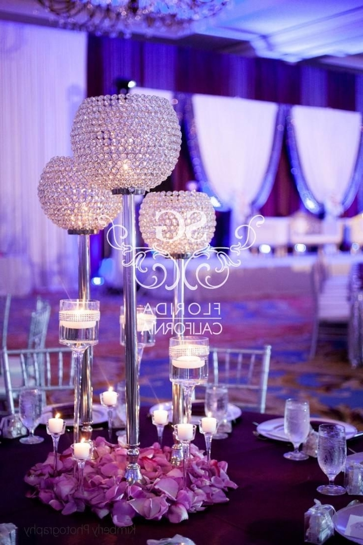 Flower Throughout Faux Crystal Chandelier Centerpieces (View 12 of 20)