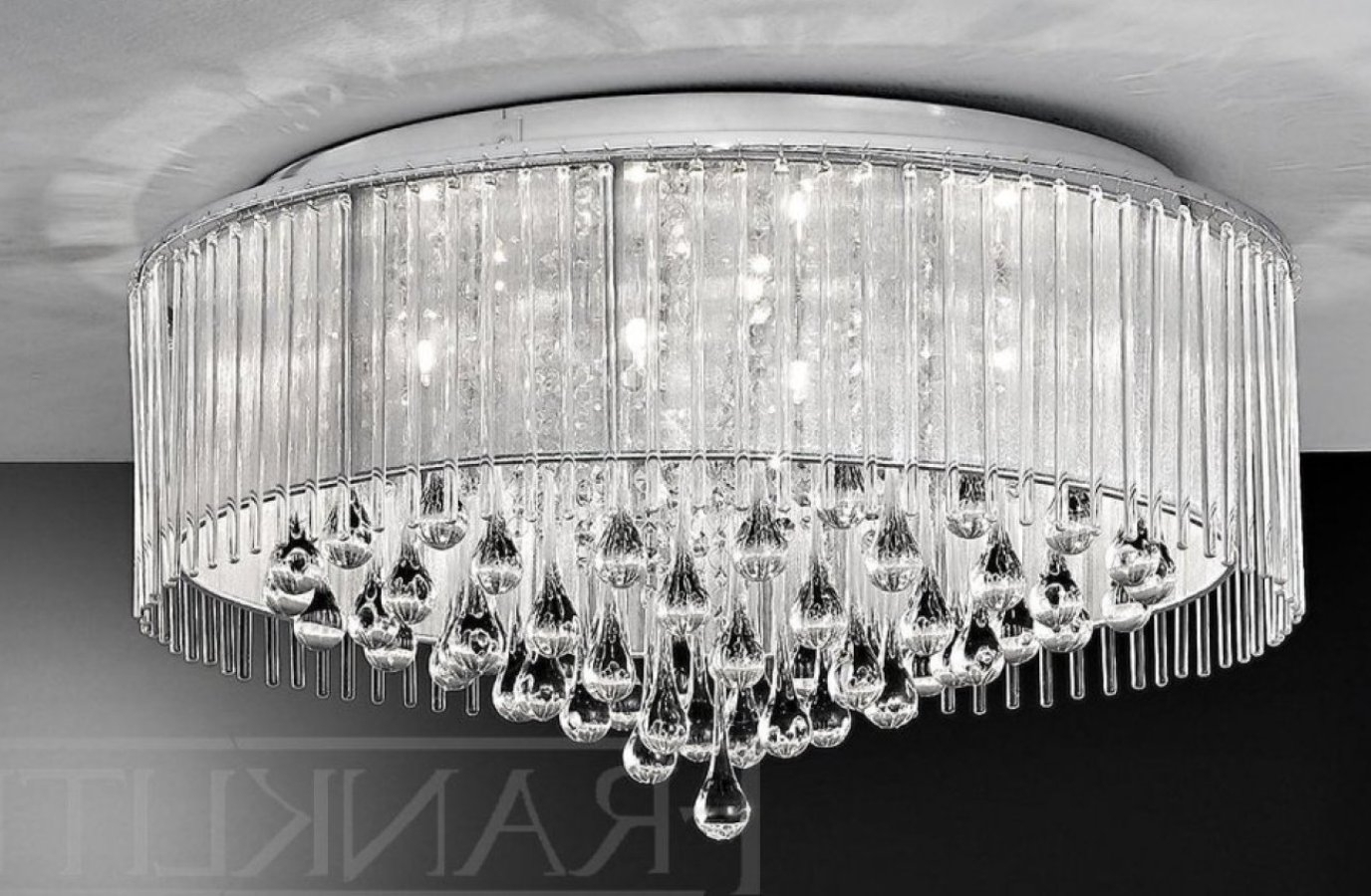 Flush Chandelier Ceiling Lights For Current Light : Amazing Flush Chandelier Ceiling Lights Semi Mount Sku V (View 2 of 20)
