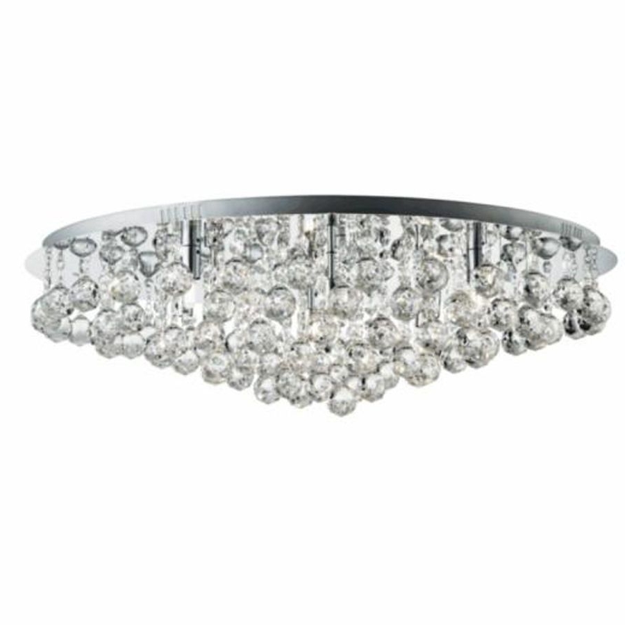Flush Chandelier Ceiling Lights For Most Recently Released Searchlight 9598 8Cc Hanna Chrome 8 Light Semi Flush Crystal Balls (View 6 of 20)