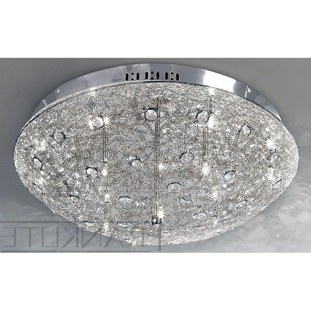 Flush Chandelier Ceiling Lights Regarding Well Known Franklite Andromeda Fl2208/12 Crystal Flush Ceiling Light (View 10 of 20)