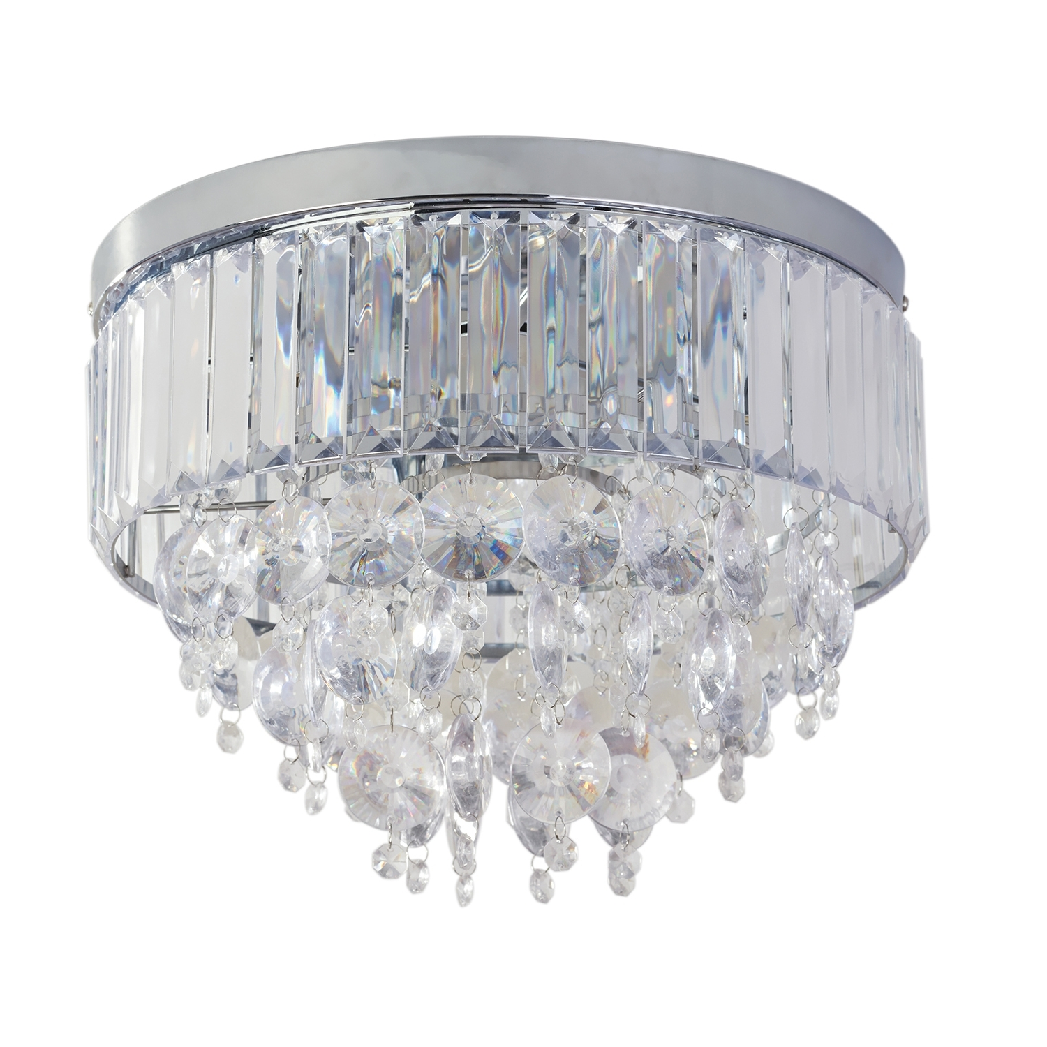 Flush Fitting Chandelier Throughout Well Liked Aviv Three Light Flush Fitting (View 7 of 20)