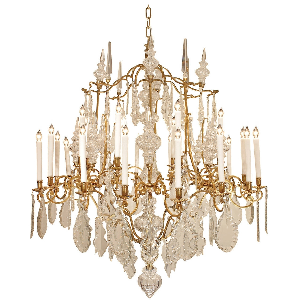 French 19th Century Louis Xv Style Ormolu And Baccarat Crystal In Most Current French Crystal Chandeliers (View 19 of 20)
