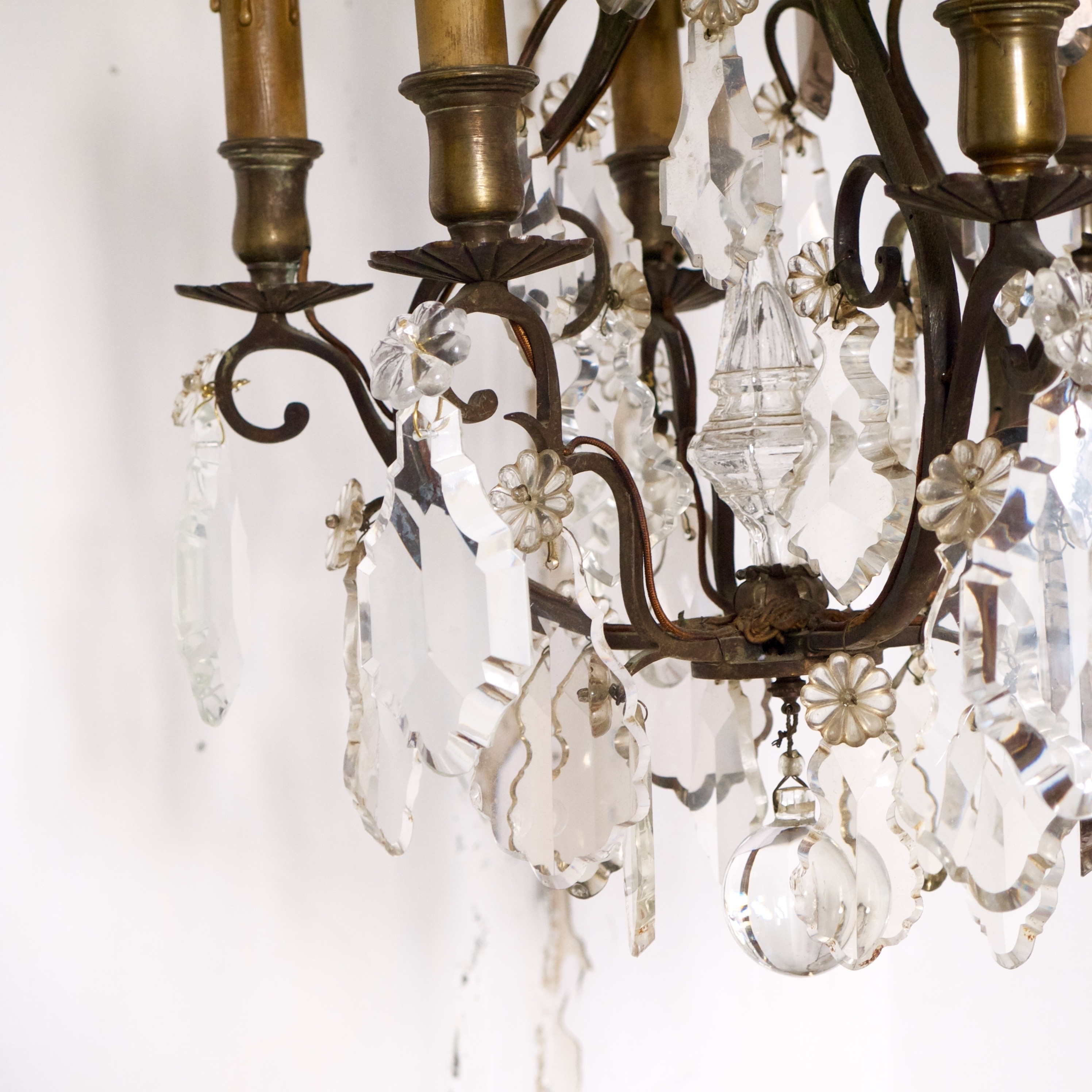 French Antique Chandeliers With Famous Antique Crystal French Bronze Chandelier (View 8 of 20)