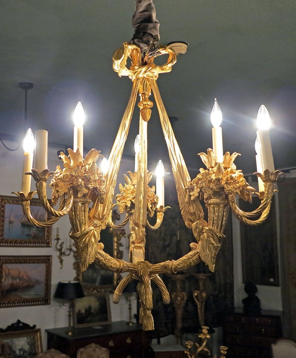 French Bronze Chandelier With Current A Magnificent French Gilt Bronze Chandelier Circa 1890 1900 Stamped (View 11 of 20)
