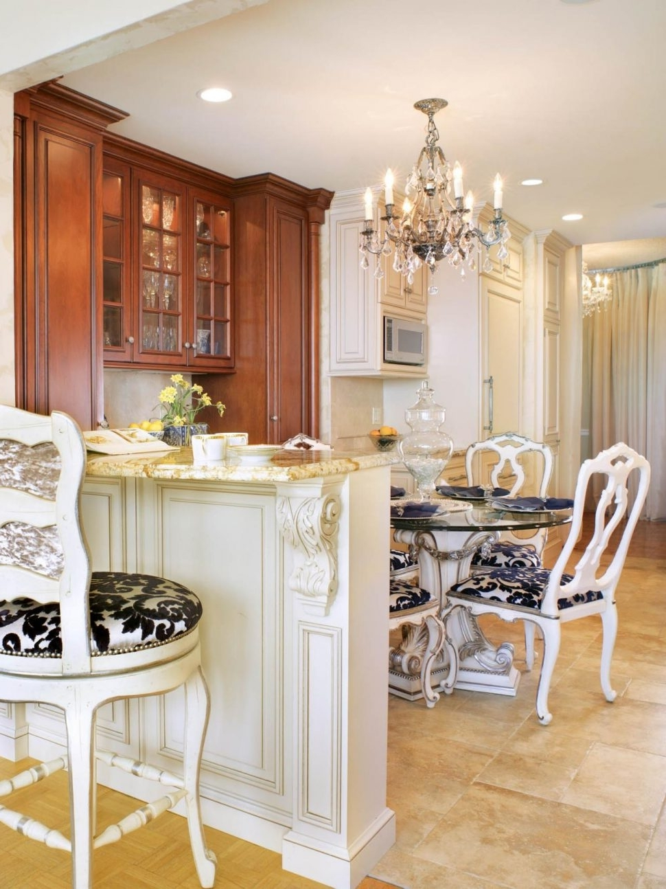 French Country Chandeliers For Kitchen Intended For Latest Chandeliers Design : Fabulous Charming Kitchen Chandelier (View 9 of 20)