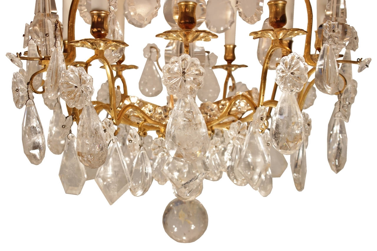 French Crystal Chandeliers Regarding Most Recently Released French Mid 18th Century Louis Xv Period Rock Crystal And Ormolu (View 9 of 20)