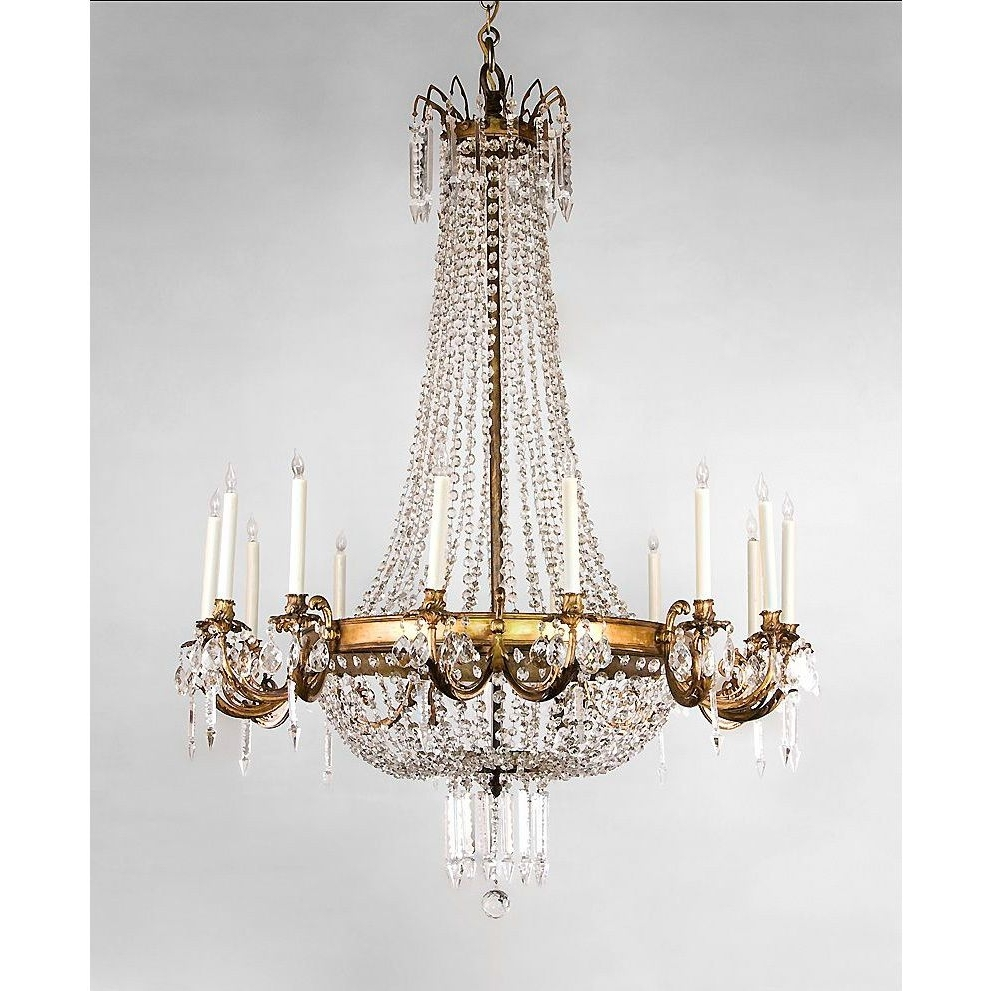 French Crystal Chandeliers With Regard To Well Liked Entryway Chandelier – French Regency Style 14 Light Ormolu And (View 8 of 20)