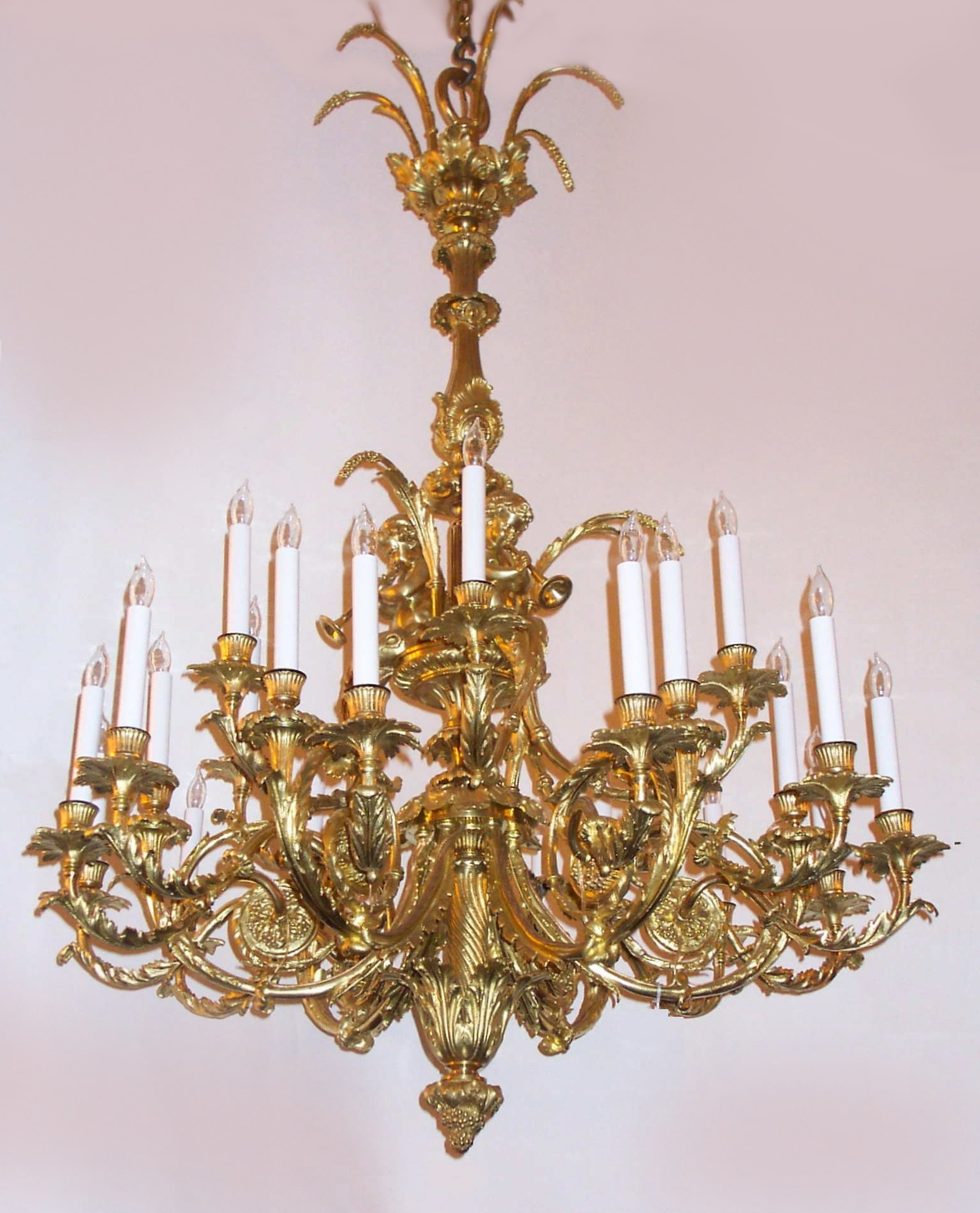 French Gold Chandelier With Regard To Most Up To Date Antique French Louis 16Th Gold Bronze Marie Antoinette Chandelier (View 12 of 20)