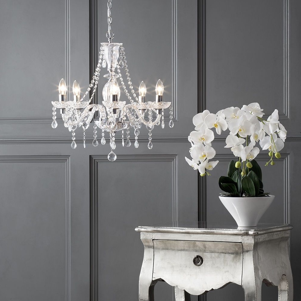 French Style Chandelier Pertaining To Newest Crystal Chandelier Avignon With Crystal Style Acrylic Beads 5 Light (View 10 of 20)