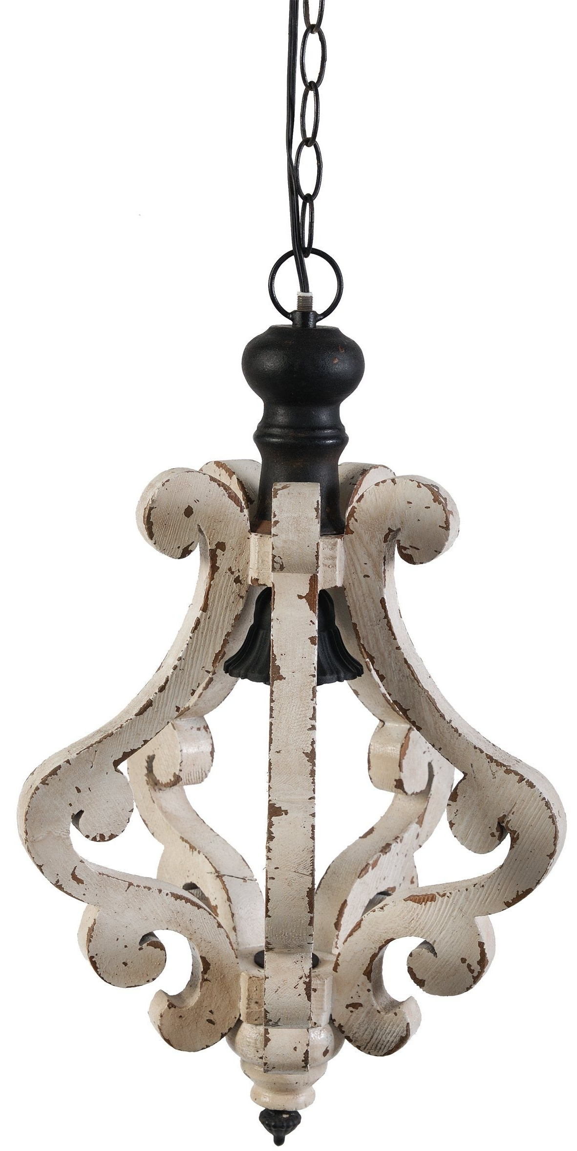 French Wooden Chandelier Intended For Trendy Amazon – A&b Home Perth Wooden Chandelier, 12.6 X  (View 10 of 20)
