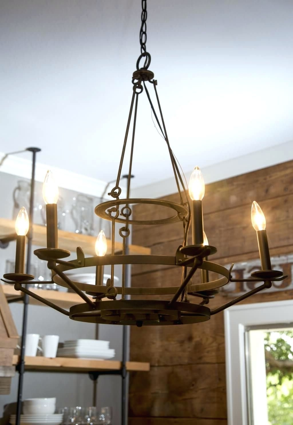 French Wooden Chandelier With Regard To Famous Chandeliers Design : Wonderful Diy Wood Chandelier Planter Outdoor (View 11 of 20)