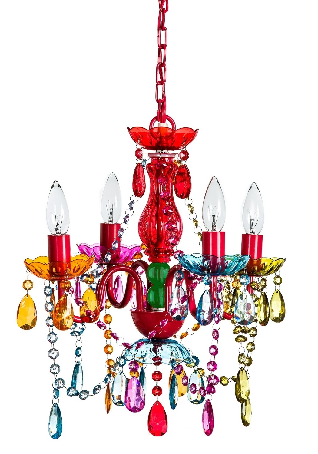 Funky & Cool: Multi Color Crystal Chandelier For Girls' Room Within Preferred Funky Chandeliers (View 9 of 20)