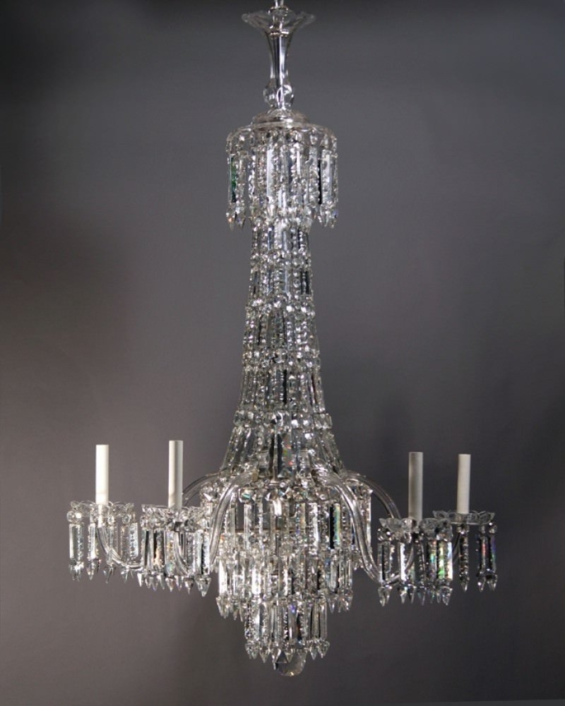 Georgian Chandelier For Preferred Crystal Chandelier, Large Antique Crystal Chandelier (Gallery 16 of 20)