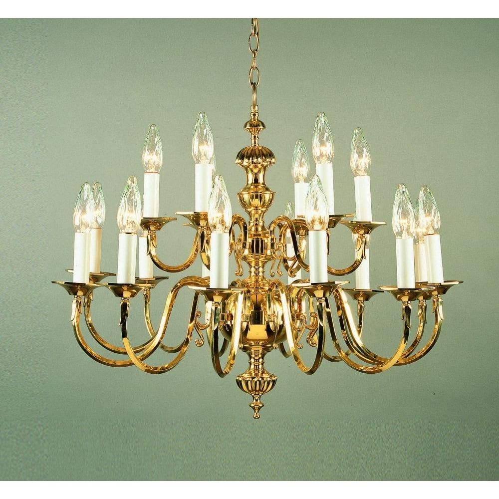 Georgian Chandelier For Preferred Impex Lighting Ghent 18 Light Cast Brass Georgian Chandelier Bf19119 (Gallery 1 of 20)
