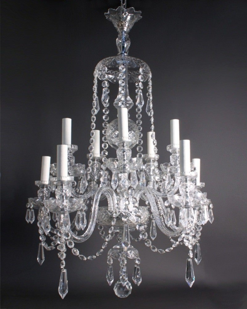 Georgian Chandelier With 2019 Crystal Chandelier, Antique Crystal Chandelier (Gallery 5 of 20)