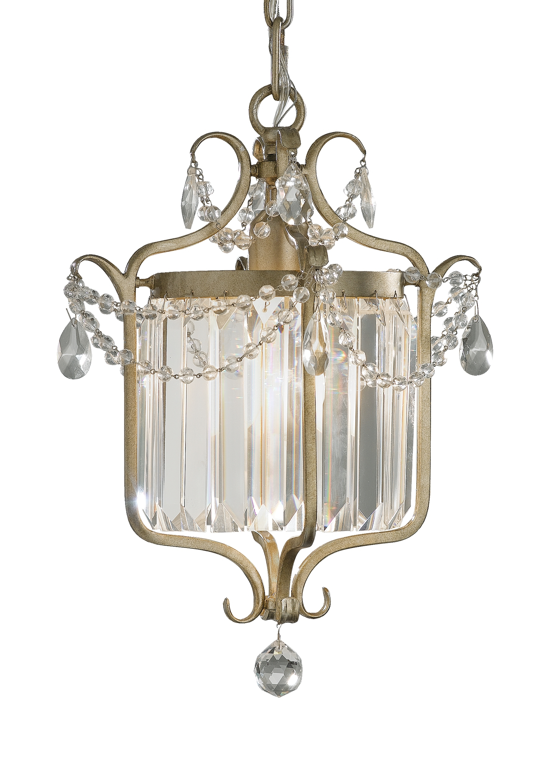 Gianna Mini Chandeliers Regarding Most Recently Released F2473/1Gs,1 – Light Mini Duo Chandelier,gilded Silver (Gallery 4 of 20)