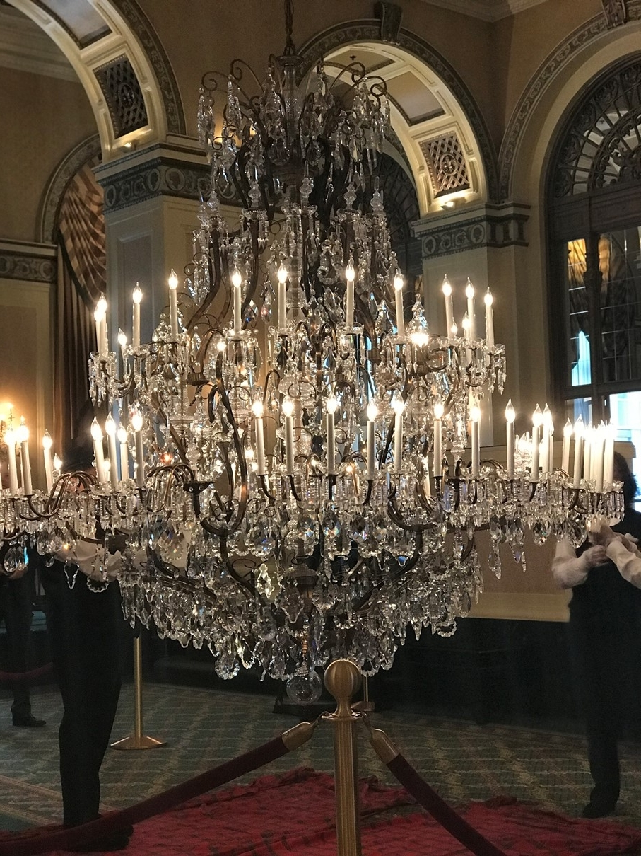 Giant Chandeliers Throughout Well Known Celebrating Decades Of Sparkle: Omni William Penn Hotel's Crystal (Gallery 19 of 20)