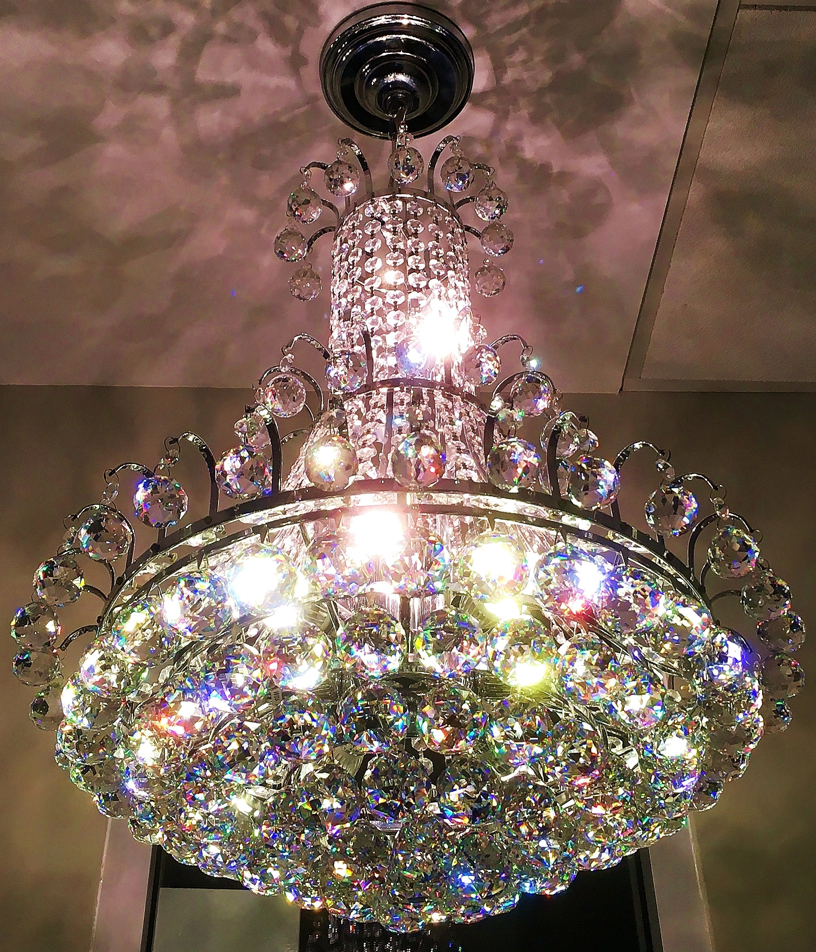 Glass Droplet Chandelier Intended For Well Liked Isabella Of Madrid, 9L Grand Royal Cut Asfour Crystal Droplet (Gallery 8 of 20)